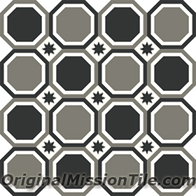 OCTAGONAL CEMENT TILES