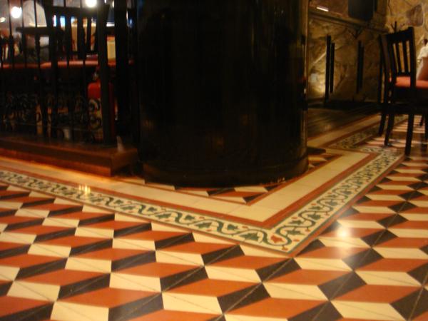 Floor cement tiles